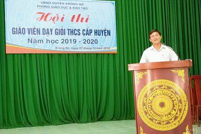 KHAI MẠC HỘI THI GIÁO VIÊN DẠY GIỎI THCS CẤP HUYỆN NĂM HỌC 2019 – 2020
